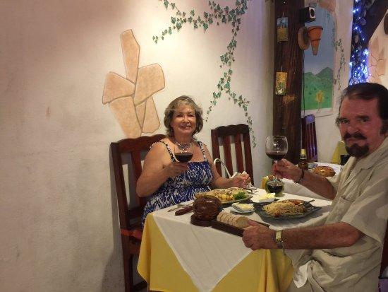 Casa Mediterranea: Cena en el restaurante casa mediterrania