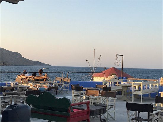 Mylos Fish Restaurant : One of the best restaurant views I've ever seen in Greece