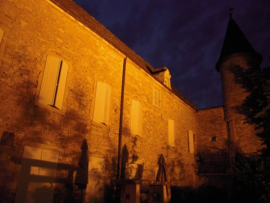 Fleurville, France: The Castle at night