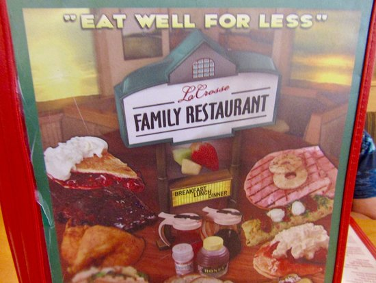 La Crosse Family Restaurant: Menu