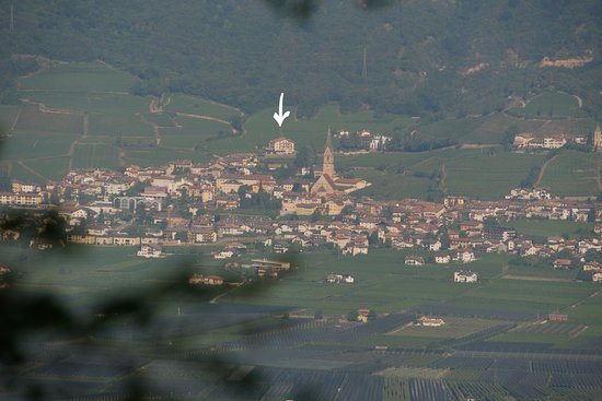 Termeno, Italy: View from a mountain opposite side