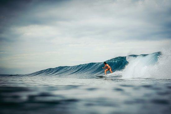 Puerto Sandino, Nicaragua: Maria surfing