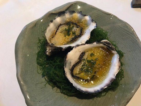 Tetsuya's: Oysters with Ginger and rice vinegar