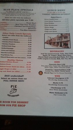 Hutto, TX: Lunch menu
