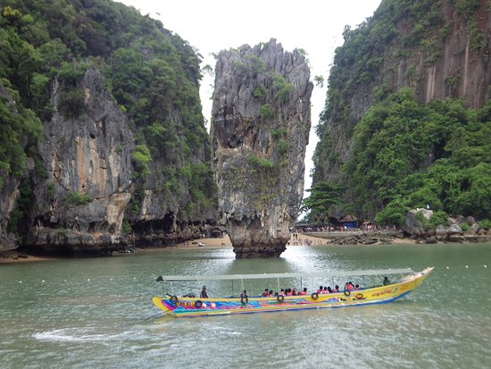 Чалонг, Таиланд: Blick vom Oberdeck auf James Bond Island