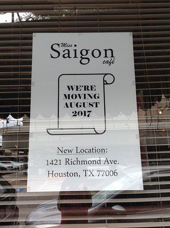 Saigon Cafe Houston Menu