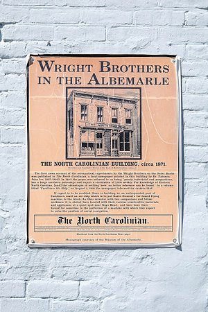 Wright Brothers in the Albemarle in Elizabeth City