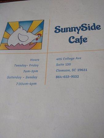Clemson, Carolina del Sur: SunnySide Cafe!