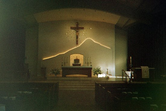 Danville, CA: Interior view of St. Isidore's Church