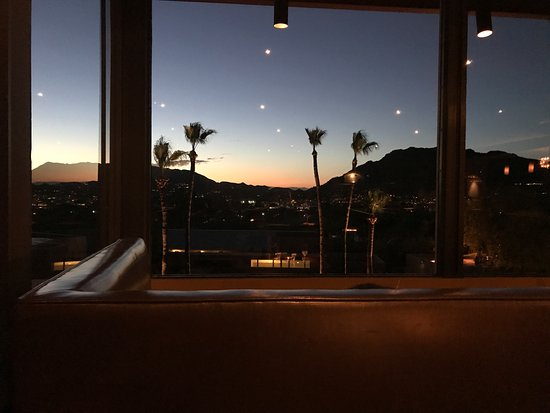 Paradise Valley, AZ: View from booth at Elements Resturant