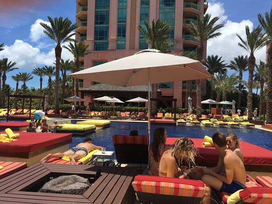 The Cove At Atlantis Autograph Collection Pool With Hotel In Background