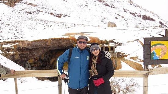 Las Cuevas, Argentyna: Paisagem linda e muito frio