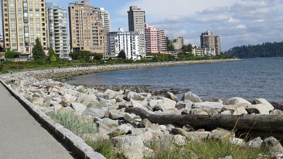 West Vancouver Seawall: Along the Seawall.