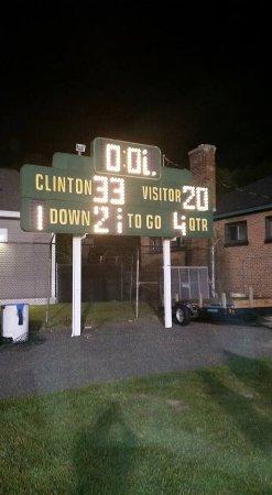 Clinton, MA: It is a football field as well.
