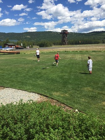 Marion, MT: Plenty of room for football or whiffle ball!