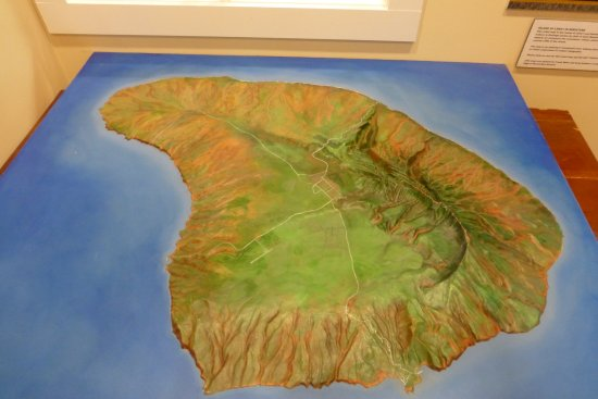 Lanai City, Hawái: Relief map