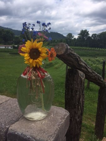 Stonewall Creek Vineyards: Fresh flowers picked from their garden.
