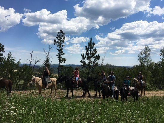 Lead, Dakota del Sur: Family Trail Ride, July 2017