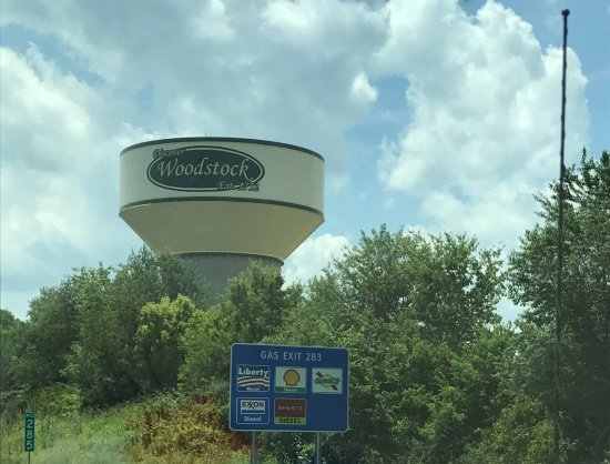 Woodstock watertower on I-81