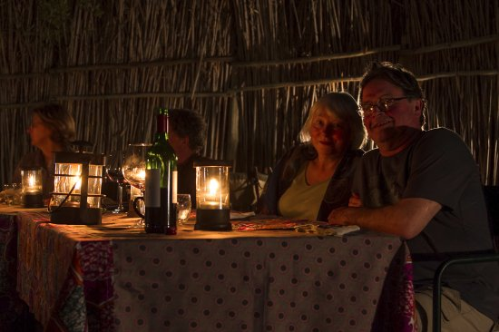 Balule Nature Reserve, South Africa: Meals in the boma.
