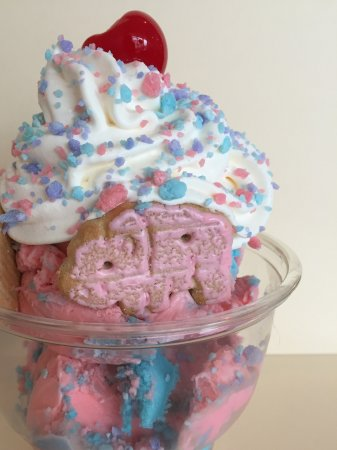 Tonawanda, NY: Cotton candy ice cream, whipped cream, cotton candy sprinkles, and circus animal