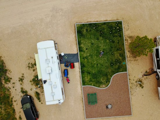 Bryce, UT: Arial view of Premium RV sites