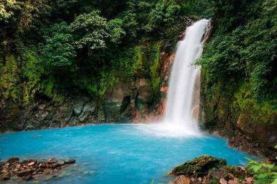 Tenorio Volcano National Park, Costa Rica: Blue Waterfall