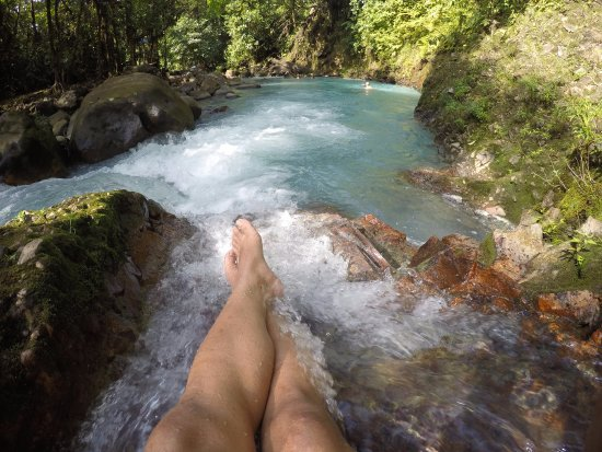 Tenorio Volcano National Park, Costa Rica: blue hideaway river