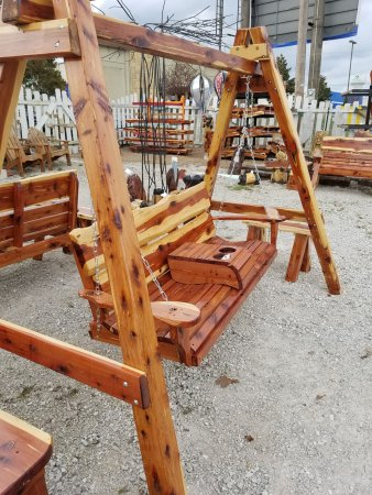 Branson, MO: lovely cedar furniture with amazing prices.