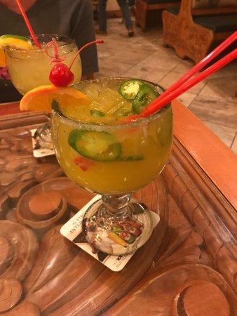 Pineville, Carolina del Norte: Jalapeno margarita (special request!)
