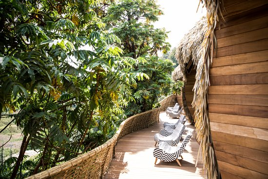 Northern Province, Ruanda: Viewing Deck from the Villa at Wilderness Safaris Bisate Lodge