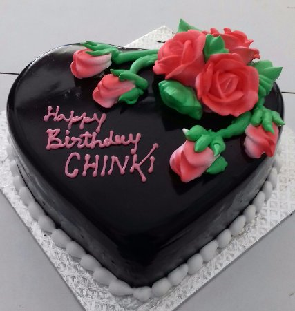 Heart Shape Chocolate Truffle Cake Photo De Blue Heaven Cakes