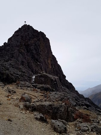 Mount Hagen, Papúa Nueva Guinea: Mt Wilhelm summit with Cairn