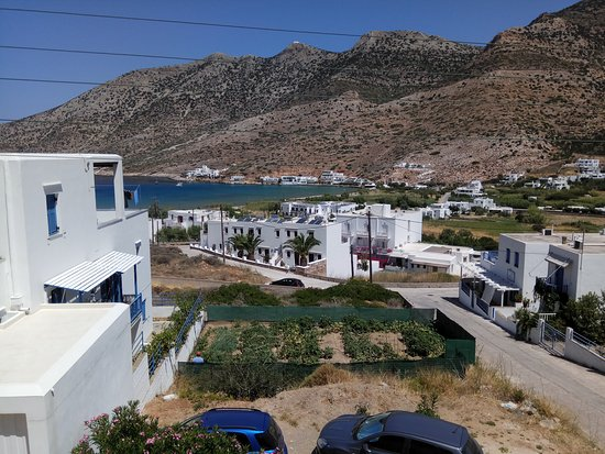 Cyclades, Yunanistan: View from the balkony