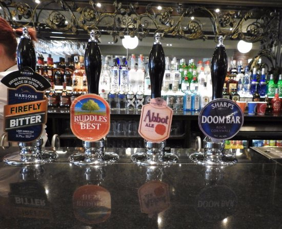 Chevalier Inn: A good range of real ales, this is just a few of those on offer.