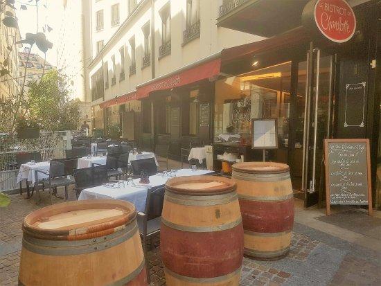 Le Bistrot de Charlotte : Terrasse du restaurant