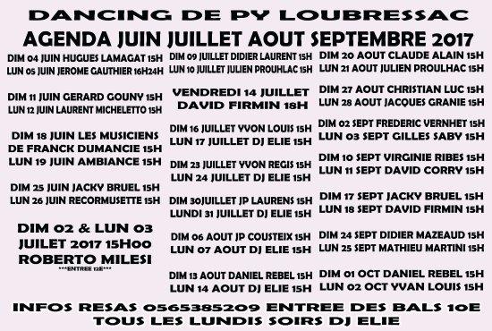 Loubressac, França: programme the dansant