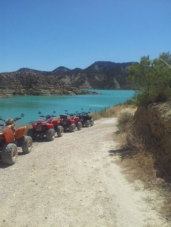 Quad Espuna: gone swimming
