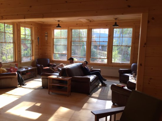 Greenville, ME: A Lounge in the Main Lodge