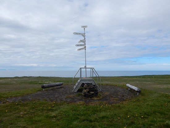 Grimsey Island, Iceland: the small Arctic Circle monument