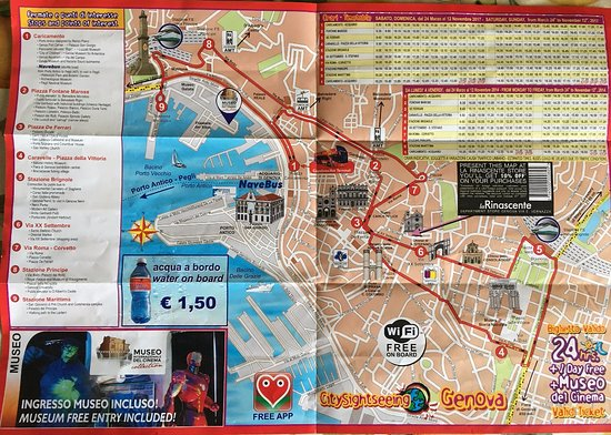 Il percorso del City Sightseeing Genova Picture of City