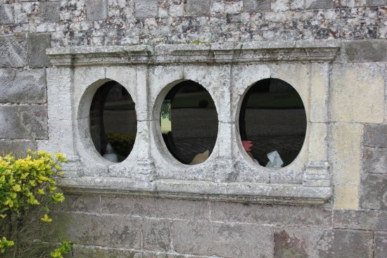 Varengeville-sur-Mer, France: The old steam room porthole windows.