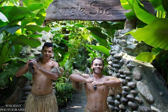 Qamea Island, Fiji: Fijian Warriors at the Jungle Spa