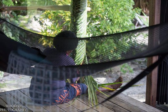 Qamea Resort And Spa Fiji: Decorating our patio