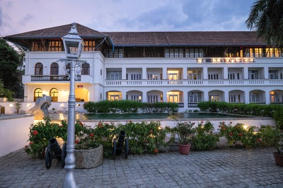 Brunton boatyard in Fort Kochi is inspired from its colonial history.