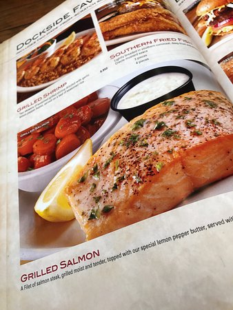 Grilled salmon with lemon pepper butter sauce - Picture of Texas ...