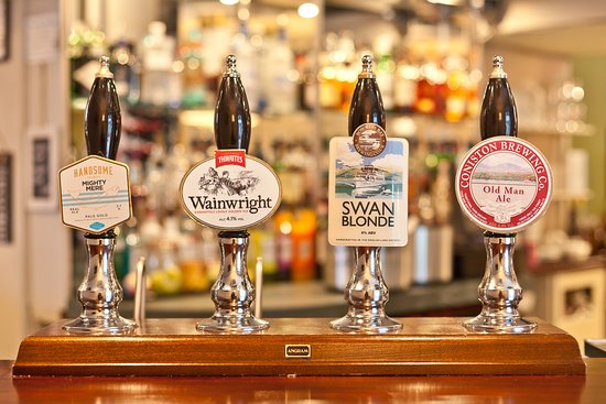 The Angel Inn: A selection of real ales always available