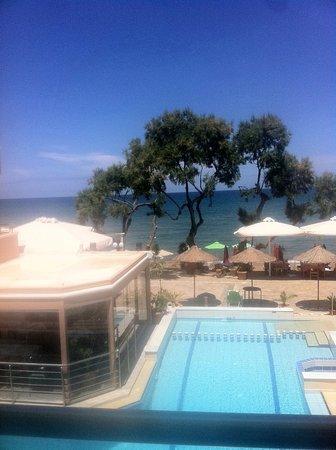 Kato Stalos Mare Hotel: At my balcony, nice morningview !