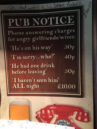 Broughton Mills, UK: Funny sign on bulletin board in pub.