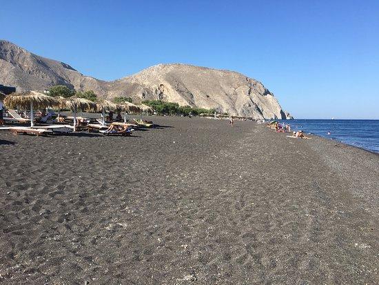 Quiet black sand beach